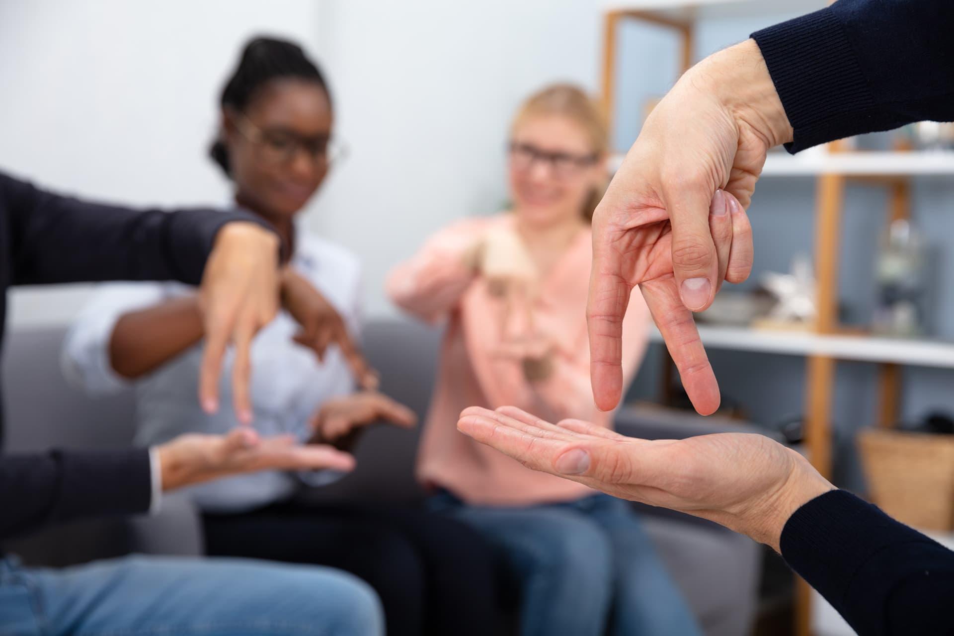 Sign language photo